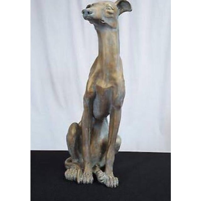Life-Size Greyhound Dog Statue For Sale - Image 4 of 7
