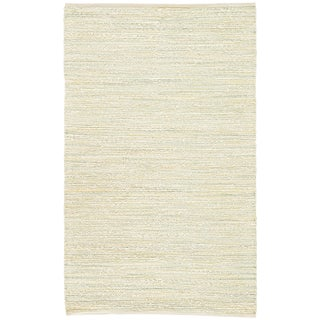 Jaipur Living Canterbury Natural Stripe White/ Green Area Rug - 5' X 8' For Sale