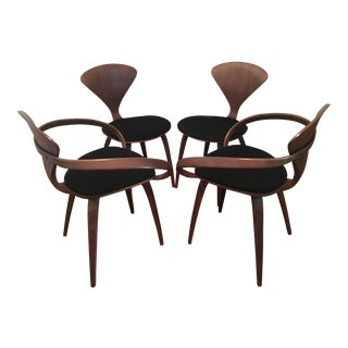 Norman Cherner Pretzel Armchairs and Side Chairs- Set of 4 For Sale
