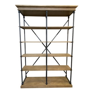 Rustic Style Parisian Cornish Double Shelving Unit For Sale