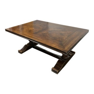 Late 20th Century French Flea Market Reclaimed Wood Dining Table For Sale