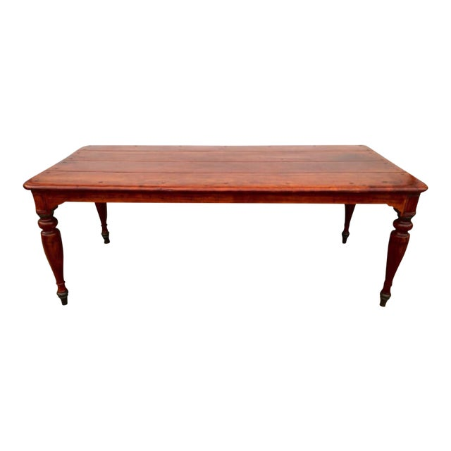 Theodore Alexander Reclaimed Dining Table - Image 1 of 4