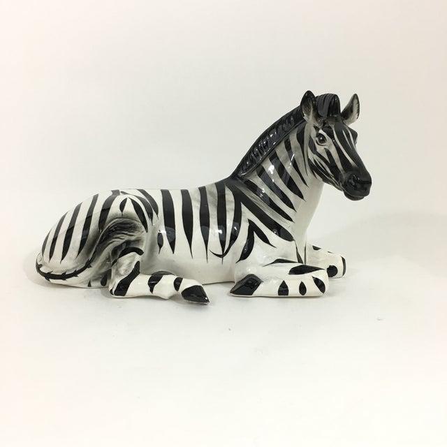 Zebra Ceramic Figure Statue For Sale - Image 10 of 10