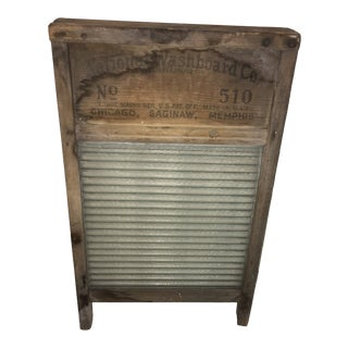Vintage National Co. #510 Wood & Glass Washboard