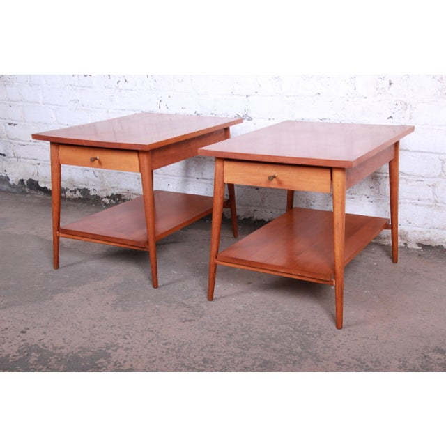 Contemporary Paul McCobb Planner Group Mid-Century Modern Nightstands or End Tables - a Pair For Sale - Image 3 of 13