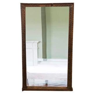 Wooden Reclaimed Wood Full Length Floor Mirror For Sale