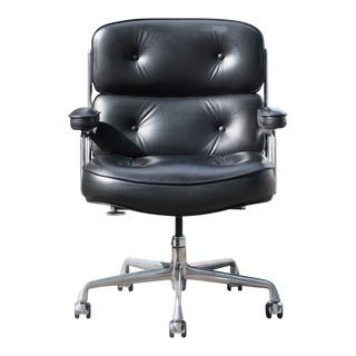 """Eames """"Time-Life"""" Executive Chair in Black Leather by Charles & Ray Eames for Herman Miller For Sale"""