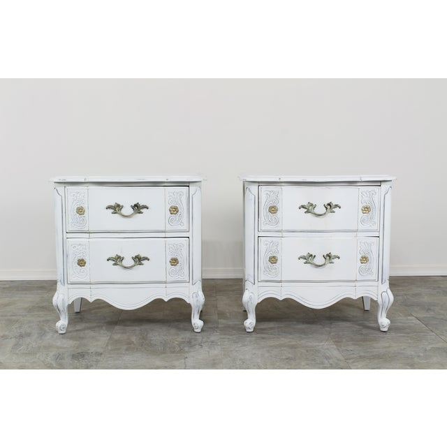 Vintage White French Provincial Nightstands - a Pair For Sale - Image 13 of 13