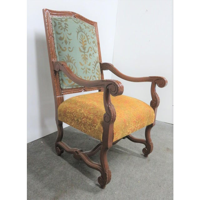 Textile Rococo Style Italmond Furniture Co Dining Chairs - Set of 10 For Sale - Image 7 of 12