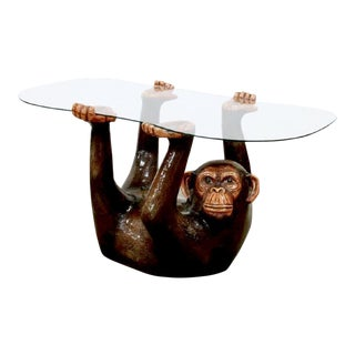 Last Call 1970s Mid-Century Modern Sergio Bustamante Monkey Coffee Table
