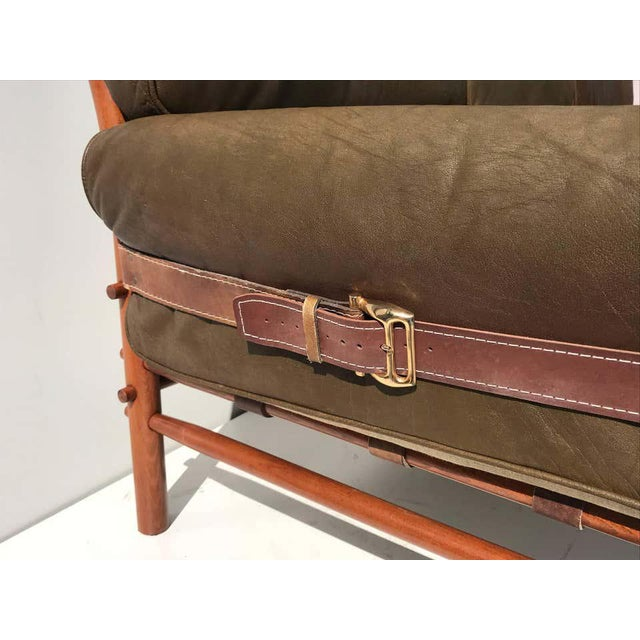 """Brown Arne Norell Leather """"Kontiki"""" Sofa For Sale - Image 8 of 13"""