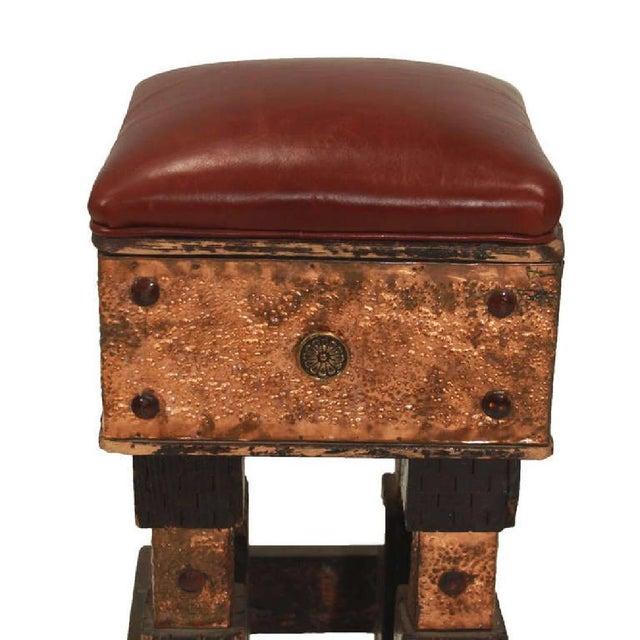 Circa 1960 Hand Carved Hammered Metal Bar Stool Chairish