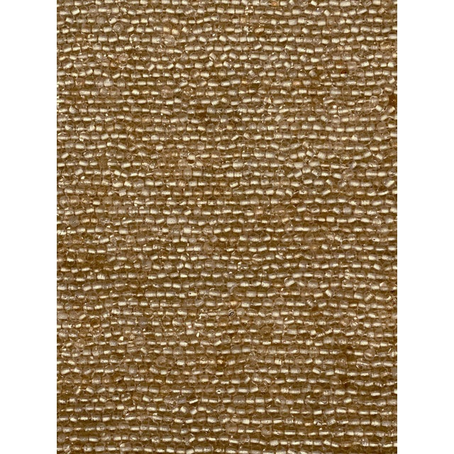 Contemporary Hand-Beaded Glass and Linen Placemats by Dranfield & Ross - Set of 8 For Sale - Image 3 of 11