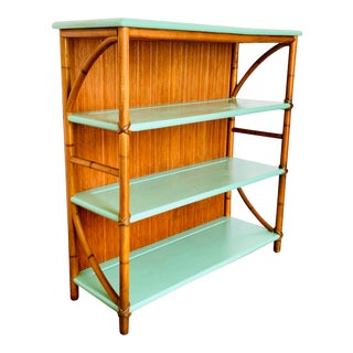 Mid Century Bamboo Etagere By Heywood Wakefield For Sale