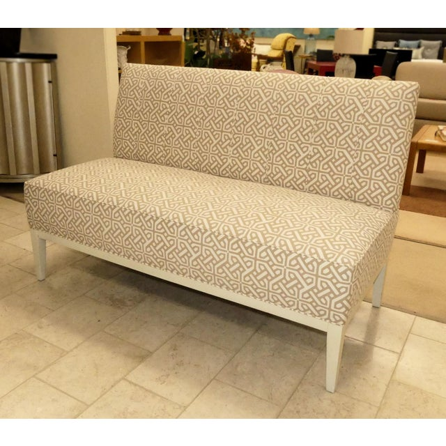 Hickory Chair Upholstered Dining Bench . Banquette . Settee . Loveseat For Sale - Image 11 of 11