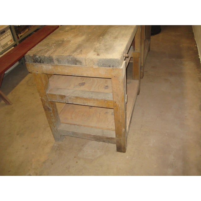 Industrial 1900s Industrial Railroad Work Bench For Sale - Image 3 of 13