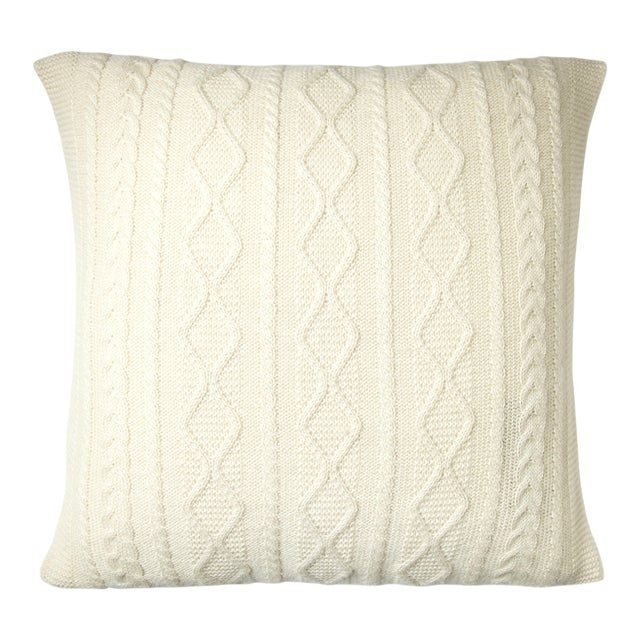 Howard Cable Square Pillow For Sale