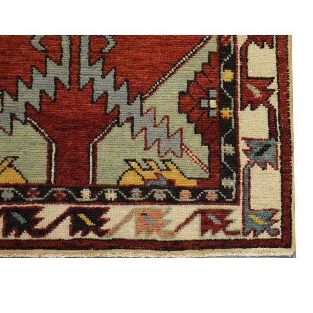 Islamic Vintage Turkish Oushak Rug - 2′8″ × 5′6″ For Sale - Image 3 of 4