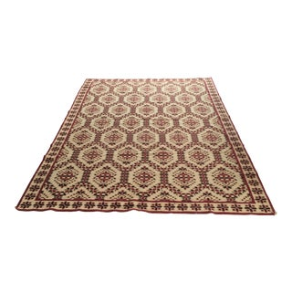 Stark Carpet Portuguese Needlepoint Area Rug - 5′10″ × 9′ For Sale