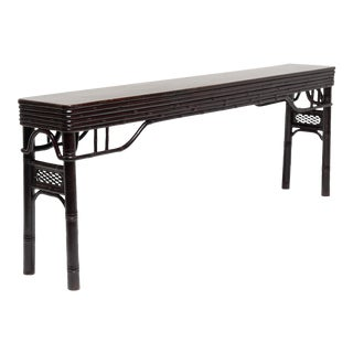 Carved Bamboo Altar Table For Sale