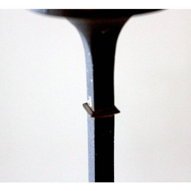 Danish Modern 1960s Dansk Iron Candlesticks - A Pair For Sale - Image 3 of 8