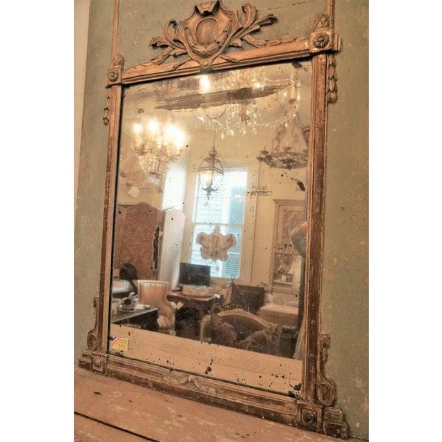 Louis XVI Trumeau Mirror For Sale - Image 9 of 11
