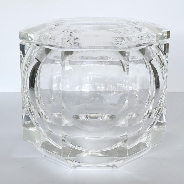 Alessandro Albrizzi Lucite Ice Bucket by Alessando Albrizzi For Sale - Image 4 of 9