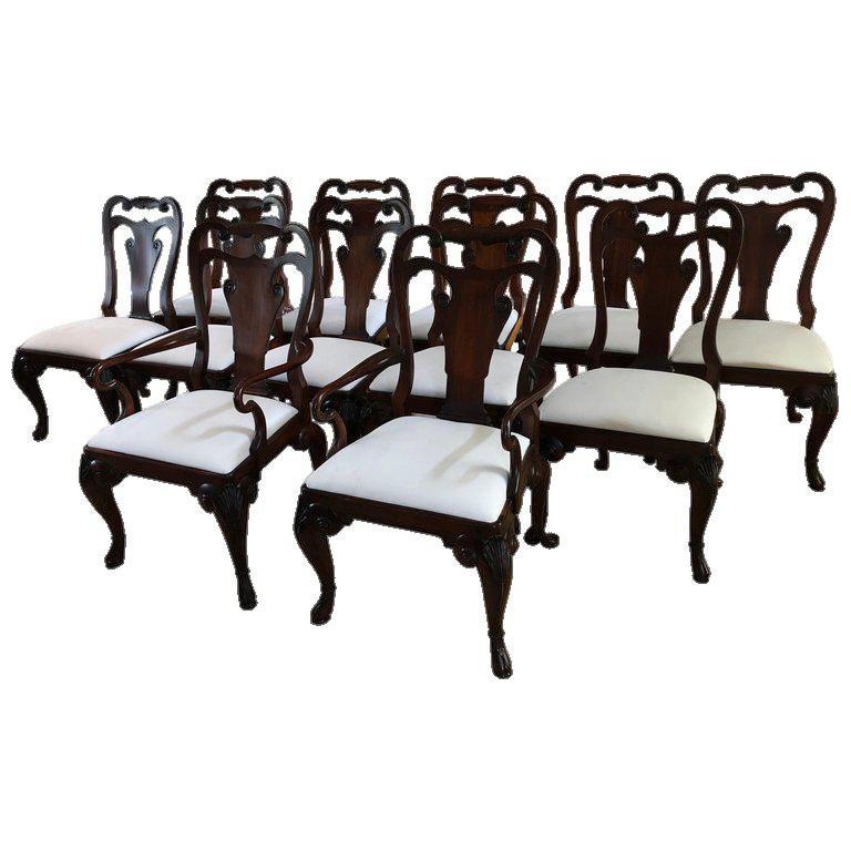 Ralph Lauren for Henredon Beekman Mahogany Dining Chairs Set of 12