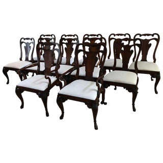 Ralph Lauren for Henredon Beekman Mahogany Dining Chairs - Set of 12 For Sale