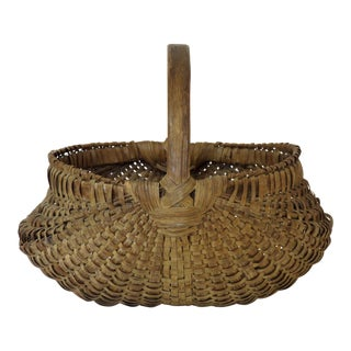 1900s Country Primitive Basket For Sale