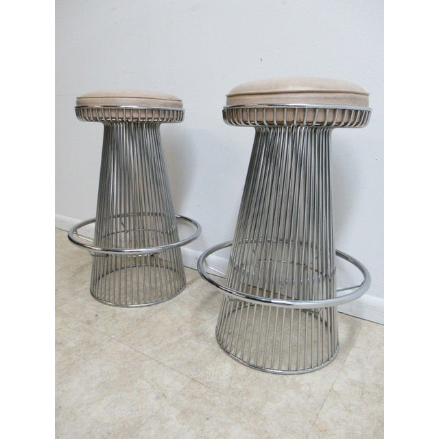 Vintage Chrome Wire Cone Bar Stools - A Pair - Image 3 of 11