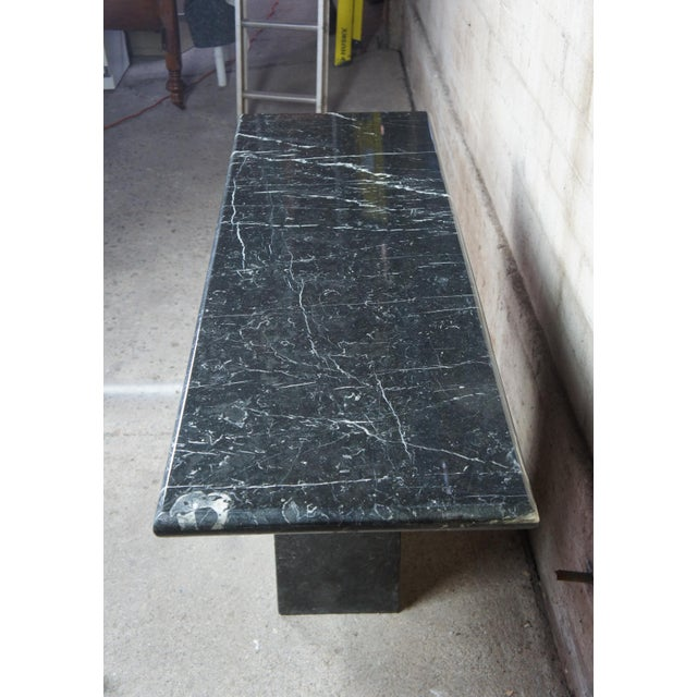 Mid Century Modern Black Italian Marble Console or Sofa Table For Sale - Image 4 of 10