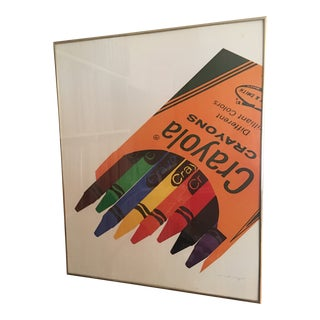 1970s Mickey Myers Crayon Poster For Sale
