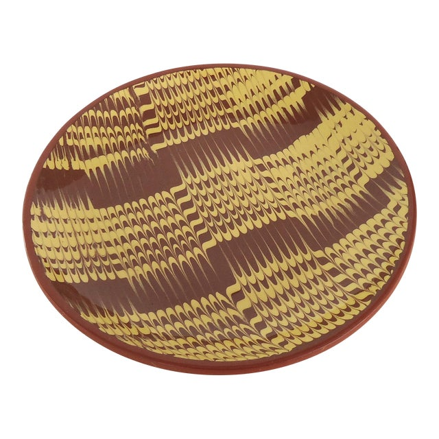 Marbled Redware Pottery Catchall Dish - Image 1 of 8