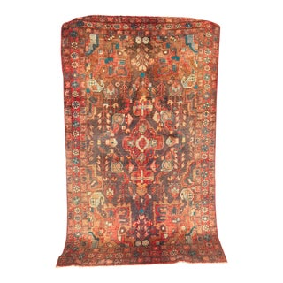 Antique 1930s Lilihan Mallayer Sarouk Persian Rug - 4′4″ × 7′3″ For Sale