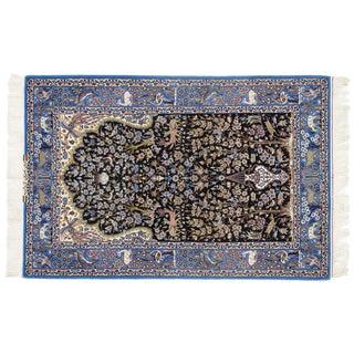 Persian Pasargad N Y Isfahan Korker Wool & Silk Highlighted Rug - 3′7″ × 5′6″ For Sale