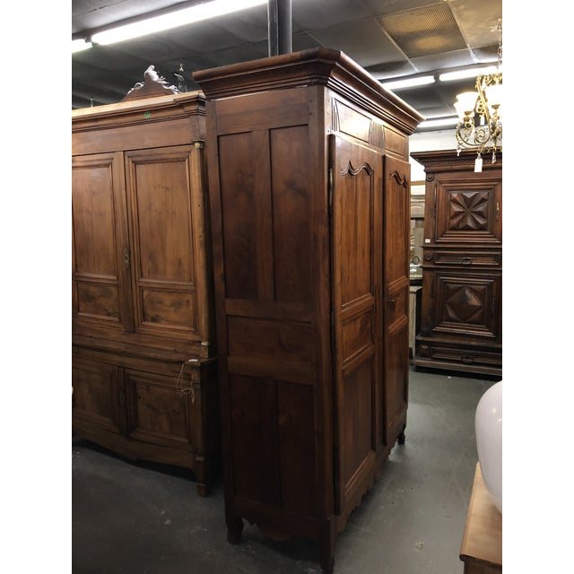 Mid 19th Century 19th Century Louis XV Provincial Walnut Armoire For Sale - Image 5 of 9