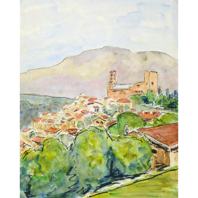 Vintage French Watercolor - Provence, France - Image 1 of 4