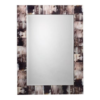 Jamie Young Grey Faux Horn Mirror For Sale