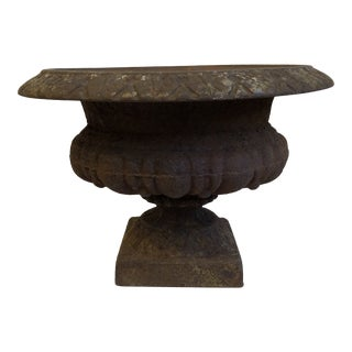 Cast Iron English Urn Planter For Sale