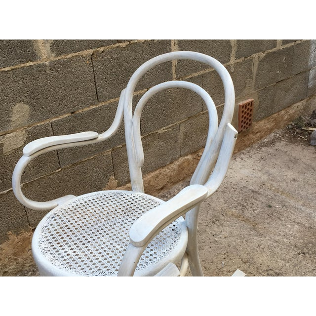 20th Century White Patina Bentwood Rocking Chair in Thonet Style For Sale In Miami - Image 6 of 10