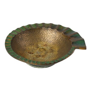 Pal-Bell Nautilus Cast Bronze Ashtray by Maurice Ascalon For Sale