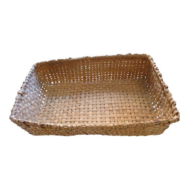 Antique Primitive Gathering Basket For Sale