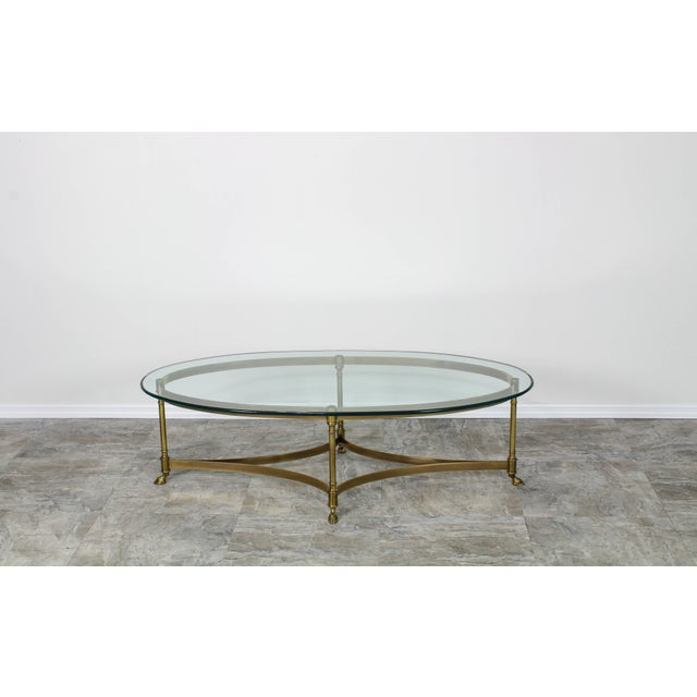 Mid Century Labarge Brass Coffee Table, Brass Coffee Table For Sale - Image 11 of 12