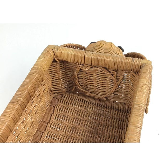 1970s Vintage Wicker Elephant Planter For Sale - Image 9 of 12
