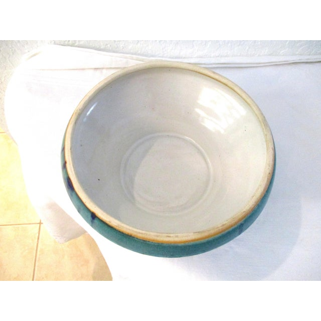 Ceramic 1990s Aqua Seas Turquoise Pottery Collection - Set of 3 For Sale - Image 7 of 8