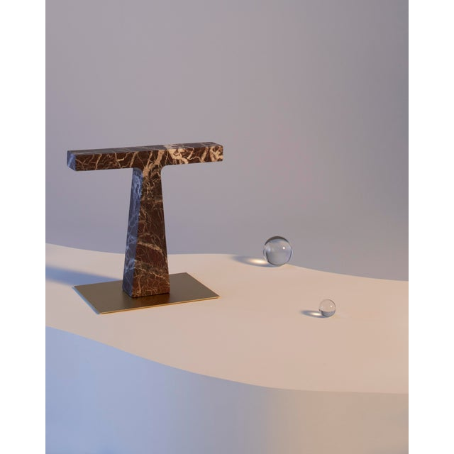 Red Levanto Marble Lamp by Niko Koronis, Made in Italy For Sale - Image 6 of 10