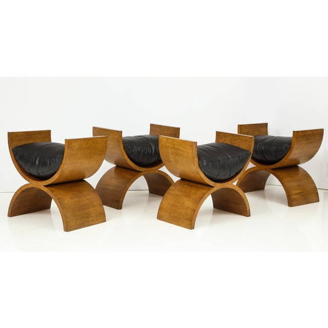 Curule Benches by Jay Spectre (Set of 4) For Sale - Image 12 of 13