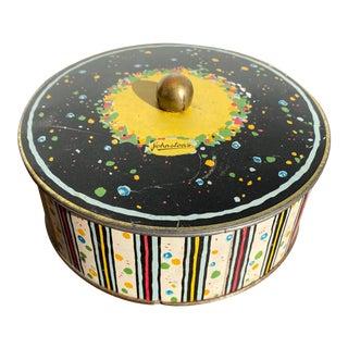 Mid 20th Century Johnston's Lidded Chocolate Tin For Sale