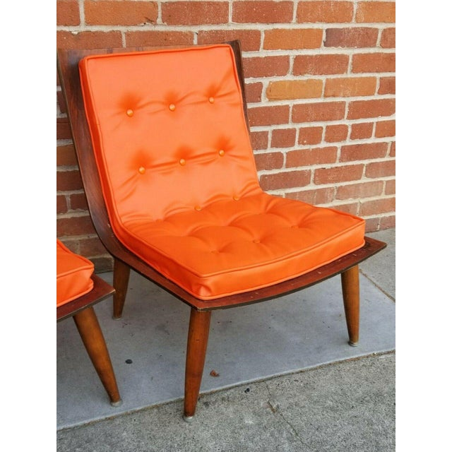 Mid 20th Century Mid-Century Bentwood Upholstered Carter Brothers Scoop Chairs- A Pair For Sale - Image 5 of 9